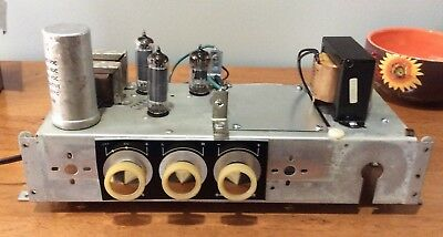 Here's a repurposed amplifier from a stereo FM/AM radio record player