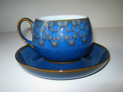 Denby Midnight Cup and  Saucer - Fine Stoneware Made in England