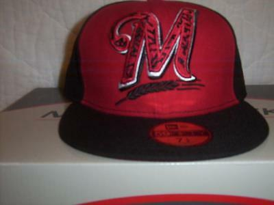 new style aae85 73cc1 ... denmark milwaukee brewers new era 59fifty fitted hat size 7 1 4 nwt mlb  baseball cap