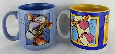 Pair Of Walt Disney Tigger Mugs From Winnie the Pooh Coffee Cups !!!