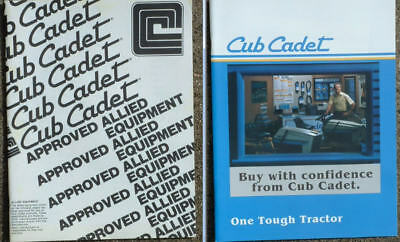 Cub Cadet Allied Equipment and Parts, Paint & Lubricants Books, Brochures.