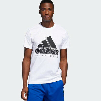 Adidas DZ8614 Men basketball BOS tee SS shirts white black