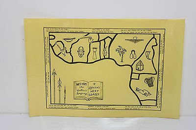 Lot 5 Africa West Coast WES-KOS Pidgin Worker's Language Map, Symbols & Sayings
