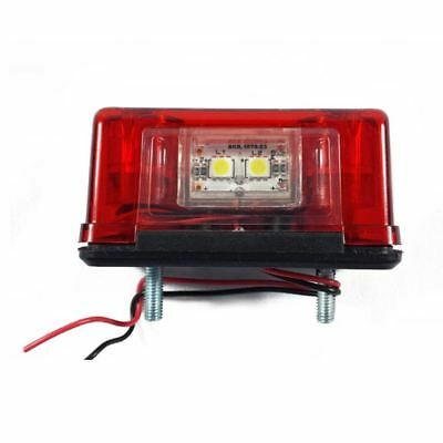 2 pcs 2LED Rear Tail License Number Plate Light Lamp 12V Car Truck Trailer  F4U7