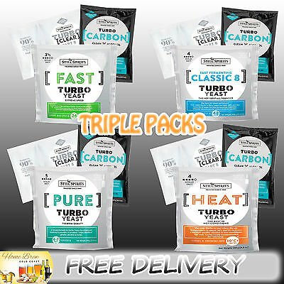 TURBO YEAST TRIPLE PACKS - PURE | HEAT | FAST | CLASSIC 8 - [Select 4pk or 5pk]
