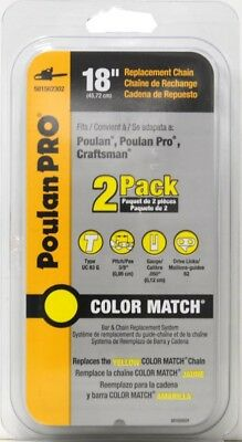 "Poulan Pro 18"" Replacement Chainsaw Chain 2-Pack"