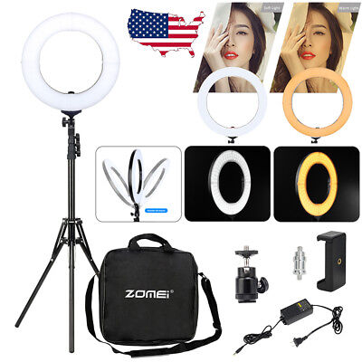 "14"" 186Pcs LED Ring Light Dimmable 5500K for Phone Video Camera Selfie w/Stand"