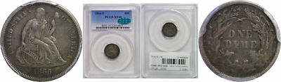 1866-S Seated Liberty Dime PCGS XF-40 CAC