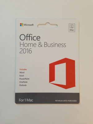 MICROSOFT OFFICE 2016 Home And Business For 1 Mac - License