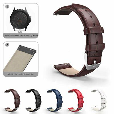 22mm Retro Leather Wrist Watch Band Replace Quick Release Pin Wrist Strap Bands