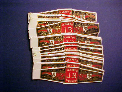 Vintage Cigar Bands - J.B. Tabacos Esquisitos Qty of (40)