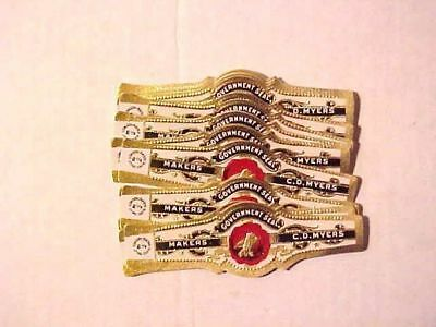 Vintage Cigar Bands - GOVERNMENT SEAL- CD Myers-Consolidated Litho Qty of (40)