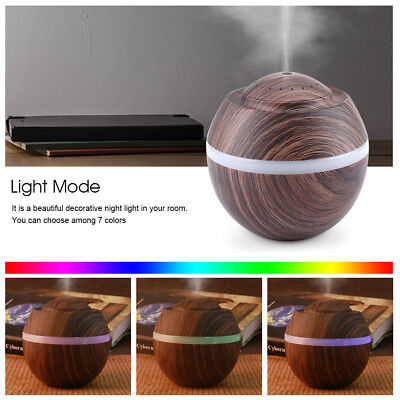 500ML Ultrasonico Aroma Humidifier Difusor LED Aromaterapia Aceite Humidificador