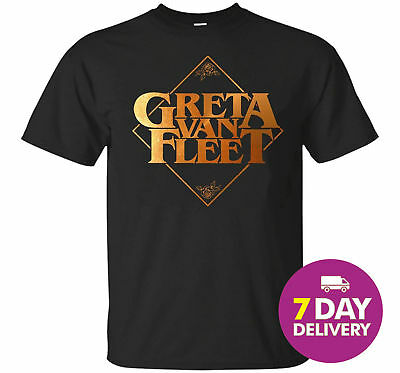 Greta Van Fleet Black Tshirt R0ck Band for Greta Van Fleet Fan S-3XL