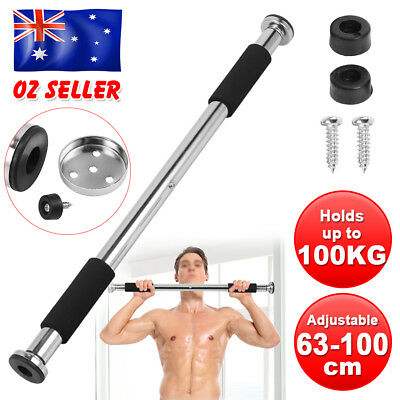 Doorway Chin Up Bar Body Push Pull Up Exercise Home Workout Fitness Adjustable
