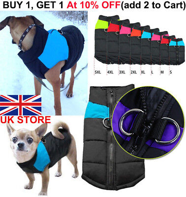 Waterproof Small~Large Pet Dog Clothes Winter Warm Padded Coat Vest Jacket S-5XL