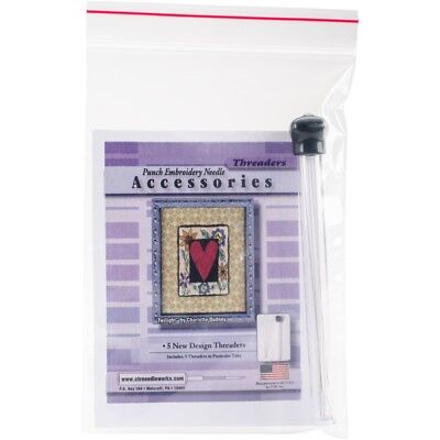 Ctr Needleworks Punch Embroidery Needle Threaders-5/pkg