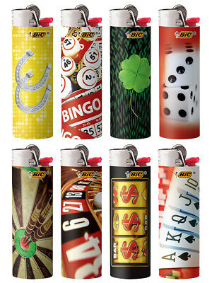BIC Special Edition Horseshoe Casino Series Lighters Designs, Set of 8 Lighters