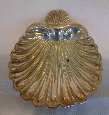 Victorian hallmarked 925 sterling silver shell dish dated 1890 by GMJ