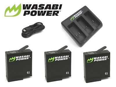 Wasabi Power Battery(ies) and Dual/Triple USB Charger Kit for GoPro HERO5, HERO6