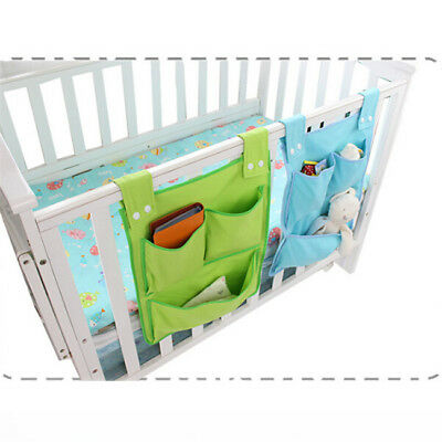 Baby Cot Bed Hanging Storage Bag Crib Organizer Toy Diaper Pocket For Crib 8C