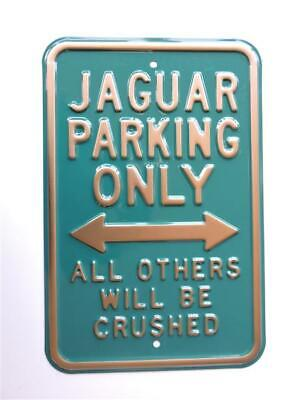Blechschild Jaguar Parking Only
