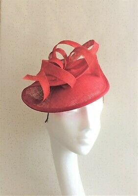 Red Wedding Fascinator Red Headpiece Mother Bride Races Ascot Hat