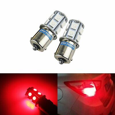 2X 1156 BA15S P21W R5W R10W 5050SMD 13 LED Ampoule Feux vehicle clignotant rouge