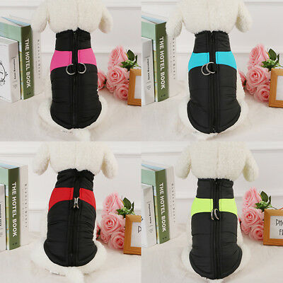 Waterproof Small-Large Pet Dog Clothes Winter Warm Padded Coat Vest Jacket S-5XL