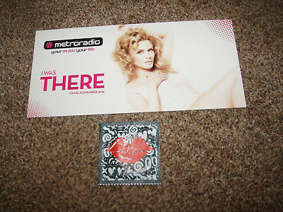 Kylie Minogue - Condom & Flyer from the Kiss Me Once Tour ! Rare Merchandise