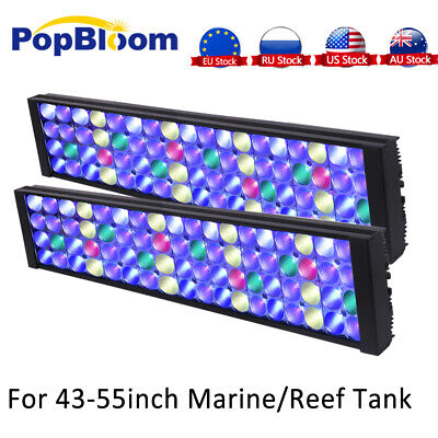 "2PCS Aquarium LED Light Marine Fish Tank Full Spectrum Dimmable 48"" 4ft MH4BP2"