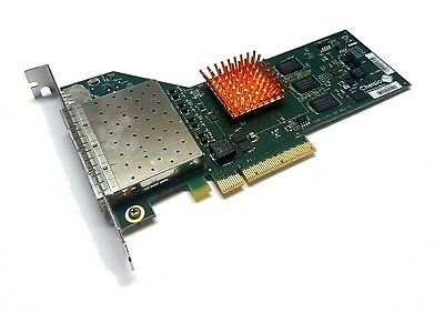 Chelsio HBA PCIe x8 NIC 10Gigabit 10GBe SFP+ Quad Port Server 110-1121-40