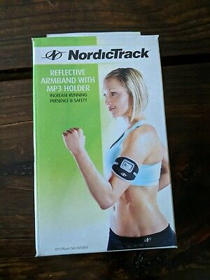 (3B1)NordicTrack Sport Armband with MP3 Holder Reflective Ecofit Black free ship