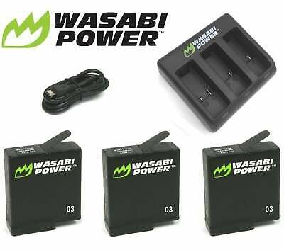 Wasabi Power Battery(ies) and Dual/Triple USB Charger Kit for GoPro HERO 7 6 & 5