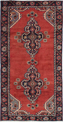 "Hand-knotted Persian 3'9"" x 7'5"" Persian Vintage Traditional Wool Rug"