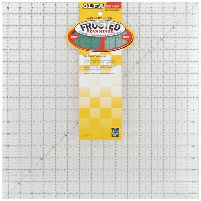 "Olfa Frosted Advantage Non-slip Ruler ""the Workhorse""-16-1/2""x16-1/2"""