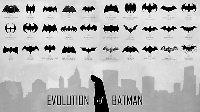 Batman - The Evolution Of Bruce Wayne DC Comics Wall Art Framed Canvas Pictures