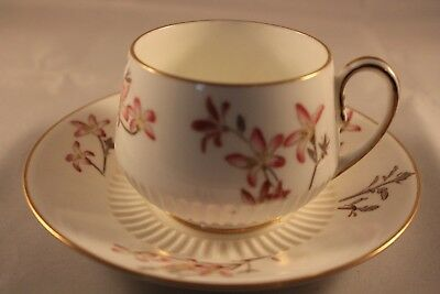 A REAL ANTIQUE GEORGE JONES & SONS CRESCENT CHINA 1886c CUP & SAUCER FLORAL