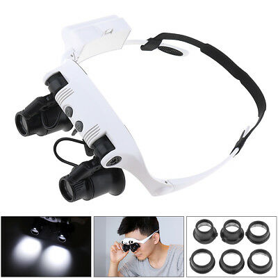 25X Magnifying Magnifier Glasses Magnifaction Jeweler Watch Repair LED Light US