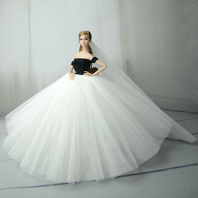 Fashion Royalty Princess Dress/Clothes/Gown+veil For Barbie Doll S558