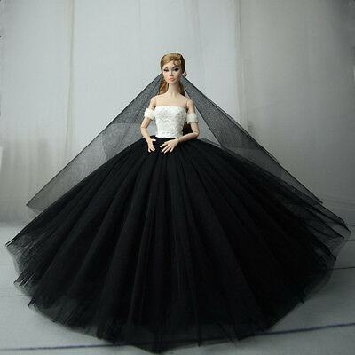 Fashion Royalty Princess Dress/Clothes/Gown+veil For Barbie Doll S559