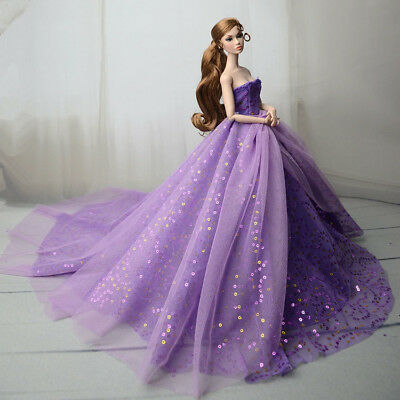 Purple Fashion Royalty Princess Dress/Clothes/Gown For 11 in. Doll S561