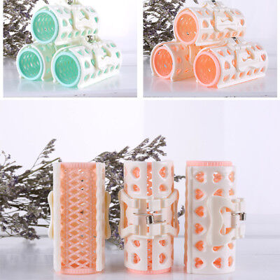 4 Large Hair Salon Rollers Cling Grip Hairdressing DIY Hair Styling Curlers