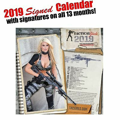 2019 Tactical Girls Gun Wall Calendar, PERSONALLY SIGNED BY ALL THE MODELS