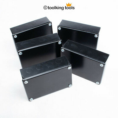 """Adaptable Electrical junction Box Steel, black with Knockouts, 6"""" x 4"""""""