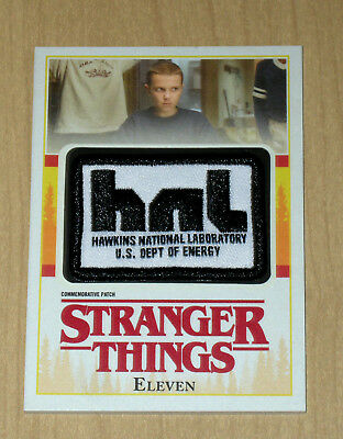 2018 Topps Stranger Things patch Eleven HAWKINS NATIONAL LABORATORY