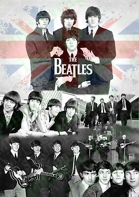 The Beatles UK Music Band Photo Poster | Picture Print Wall Art | A4 Gift