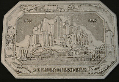 1933 A Century Of Progress Chicago Worlds Fair Trivet / Placemat