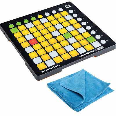 Novation Launchpad Mini MK2 Compact Pad Controller with Cleaning Cloth