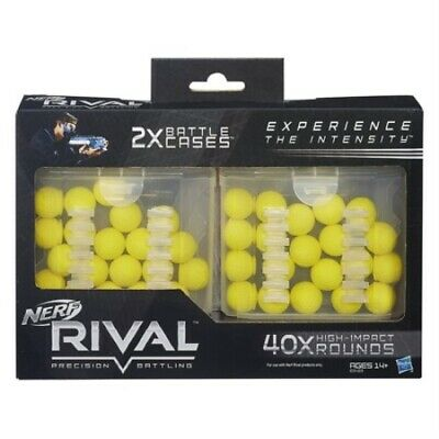 NERF Rival 40 Bullets 20-Round REFILL Cases FOR Zeus MXV1200 & Apollo XV-700